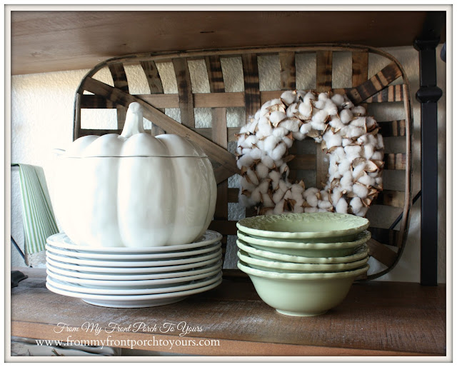 Farmhouse Style- Fall Kitchen-From My Front Porch To Yours-Better Homes and Garden- Pumpkin Soup Tureen