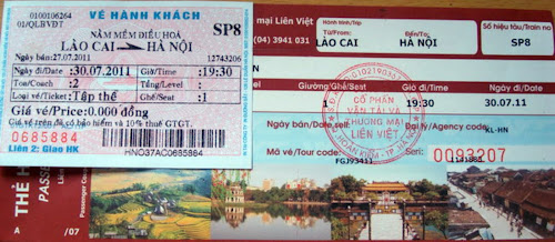 Sapa train ticket