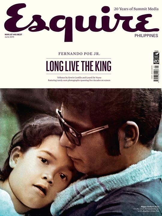Daddy's girl. An old photo of the Poes gracing the Esquire magazine cover.