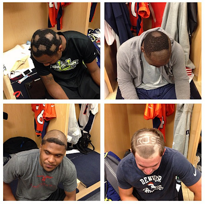 cheap haircuts denver jon heath photos denver broncos rookies get hazed with 3276 | Hazing