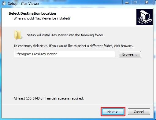 iTaxviewer 1.4.9 bước 1