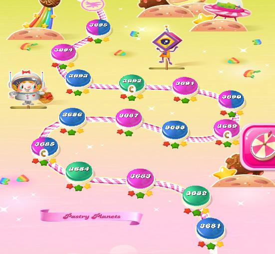 Candy Crush Saga level 3681-3695