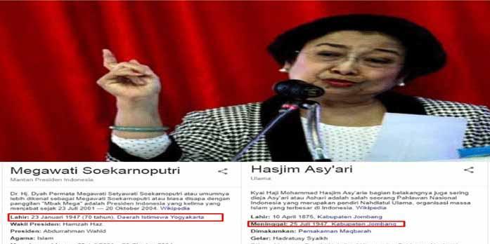 """Heboh Cerita Megawati Pertama Bertemu Pendiri NU, Netizen: """"Ajib"""" Umur 6 Bulan Mega Pintar Bicara dan Jalan"""