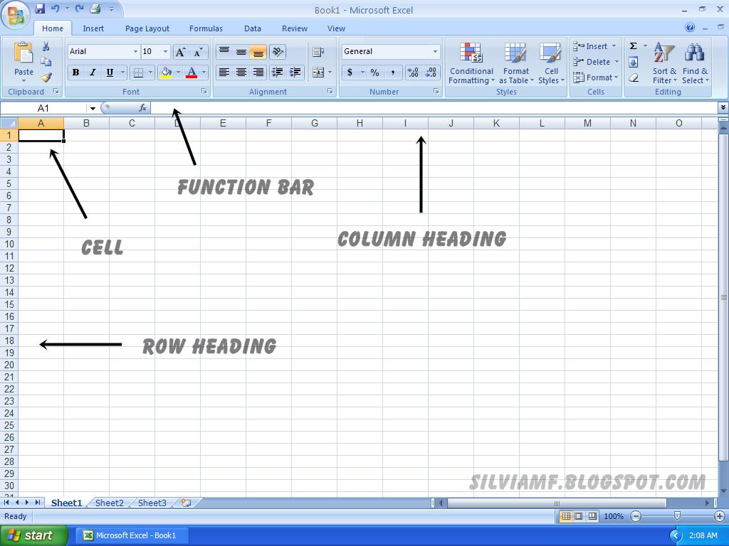 Mengenal Tampilan Microsoft Excel