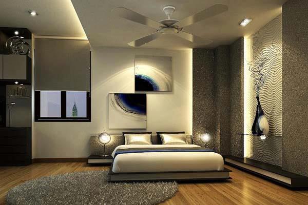 El color crema en el dormitorio for Habitacion blanca y turquesa