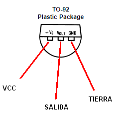 LM35 sensor de temperatura TO-92.