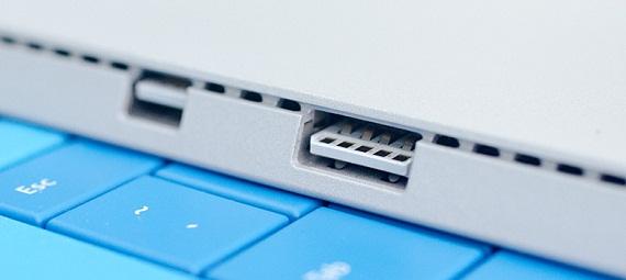 Exemplo tablet com porta USB