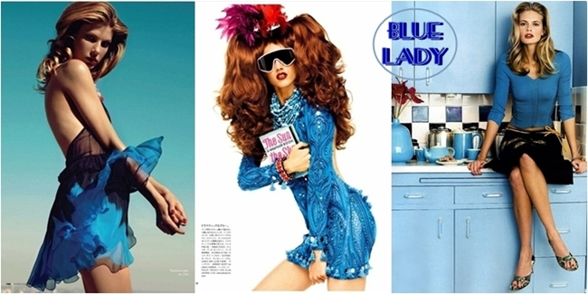 ladies in blue fashion inspiration