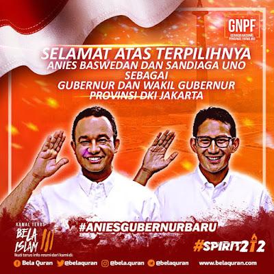 Hasil Quick Count Pilkada DKI Jakarta 2017: Anies Menang