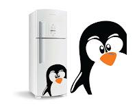 Pinguim Adesivo de Geladeira Vetores grátis