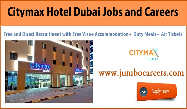 3 Star hotel job sin Dubai with accommodation, UAE hotel jobs with benefits,