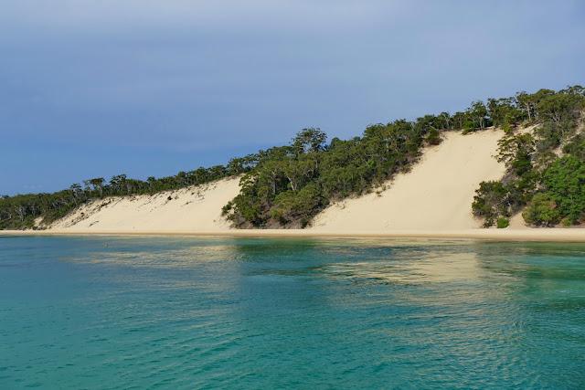 Sanddünen Sand Strand Moreton Island Insel landen