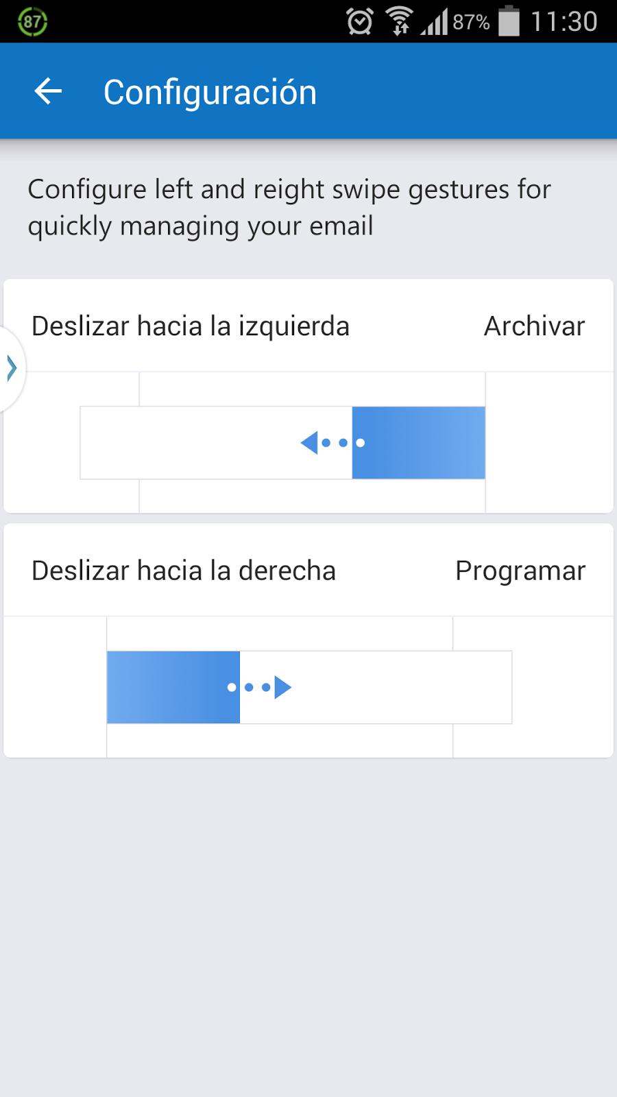 Primeras actualizaciones de la nueva app de outlook para for Correo la 14