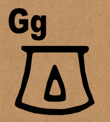 Image: Egyptian Pot symbol for letter G
