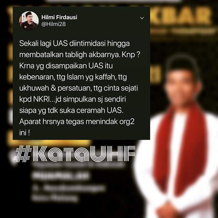 Siapa Tak Suka Ceramah Ustadz Somad? Ini Analisis Dai Muda Kota Bogor