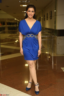 Mannara Chopra in Short Blue Dress at Rogue Movie Teaser Launch 1st March 2017 058.JPG