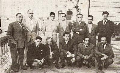 Ajedrecistas participantes en el I Torneo Internacional de Santander 1958