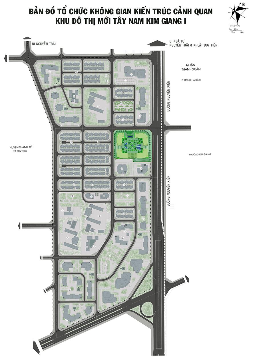 Quy hoạch khu đô thị Tây nam Kim Giang