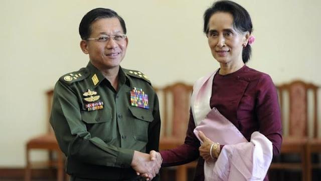 Jenderal Senior Min Aung Hlaing, Komandan Militer Myanmar Aung San Syu Ki