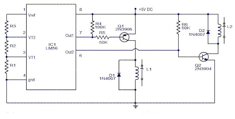 Schematic & Wiring Diagram: Simple Electronic Thermostat