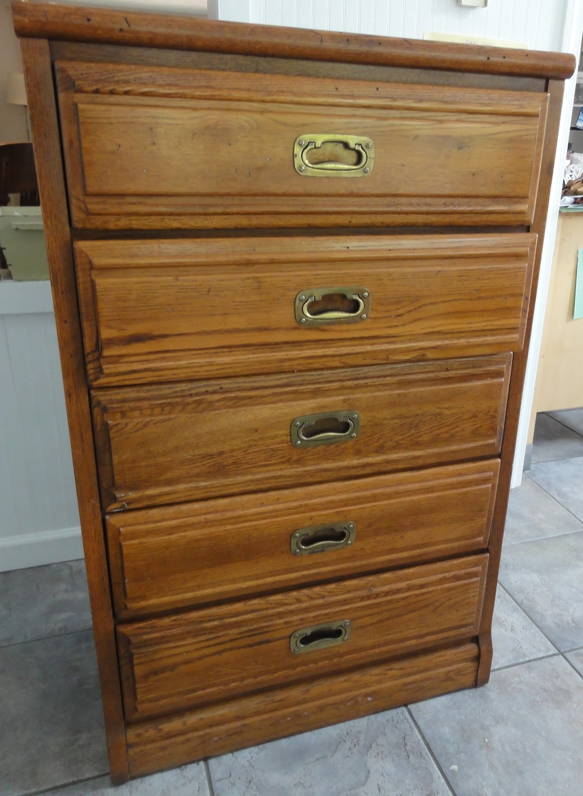 Ship Shape Dresser Before  After  Finding Silver Pennies