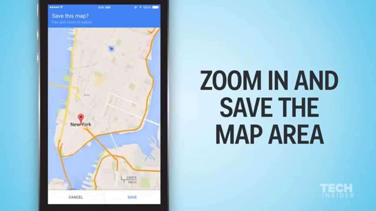 Using Google Maps offline [video]