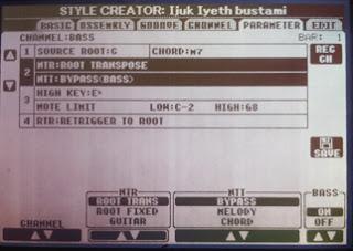 Membuka Kunci Style Yamaha PSR Yang Tidak Bisa Di Transpose