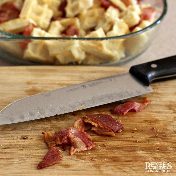 Breakfast Casserole with Bacon preparation steps