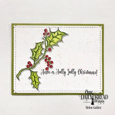 Our Daily Bread Designs Stamp Set: Holly Leaves, Custom Dies: Snowflake Sky