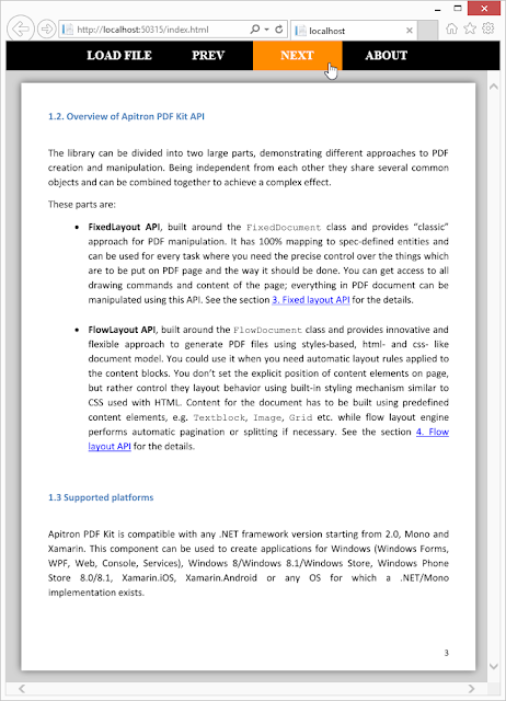 Pic. 3 PDF Viewer single page app
