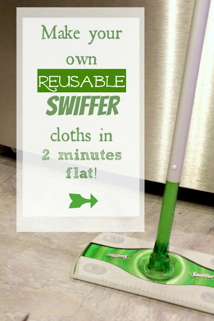 A close up of a swiffer mop