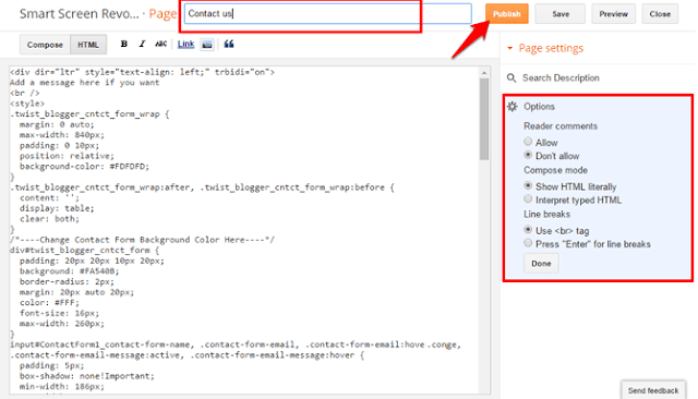 Cara Menambahkan Contact Form (Contact Us Page) di Blogger