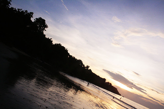 Holiday in Bali - Sunset at Jimbaran beach.