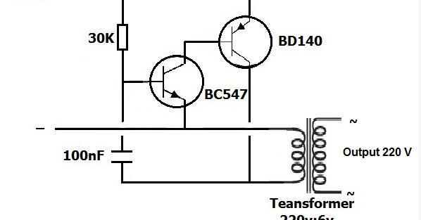 schema inverter 1 5v dc to 220v ac dengan transistor
