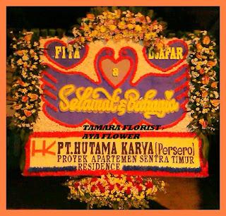 bunga ucapan happy wedding bekasi