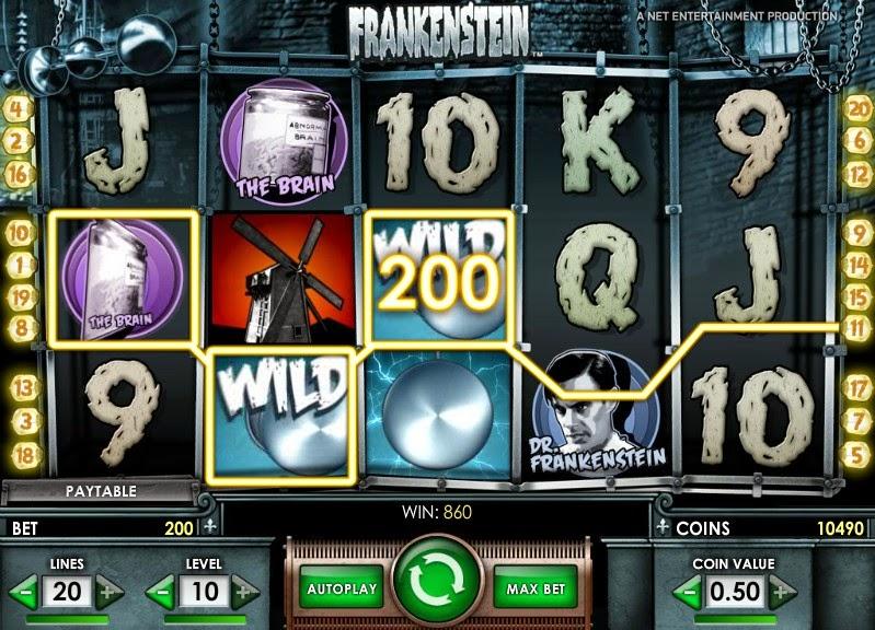 Frankenstein Video Slot Screen