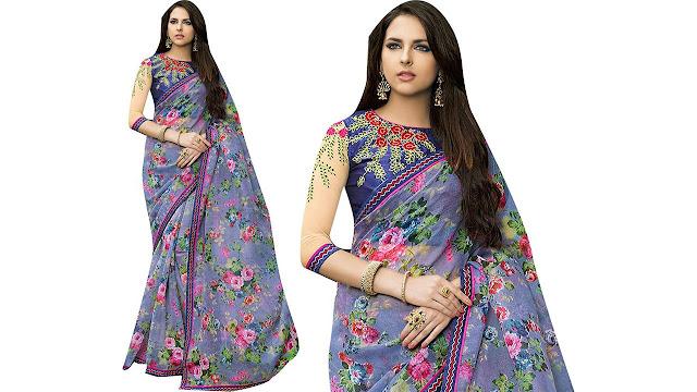 Shaily Retails Embellished Fashion Net Saree  (Multicolor)