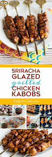 Sriracha-Glazed Grilled Chicken Kabobs found on KalynsKitchen.com