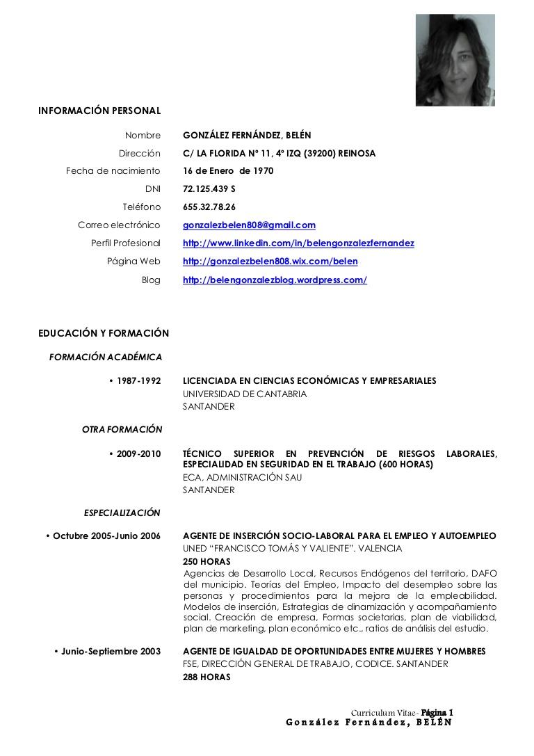 Currículum Vitae - Modelos, plantillas y ejemplos