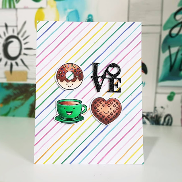 Sunny Studio Stamps: Breakfast Puns Customer Card by Pip Lewer