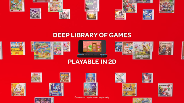 New Nintendo 2DS XL library of games