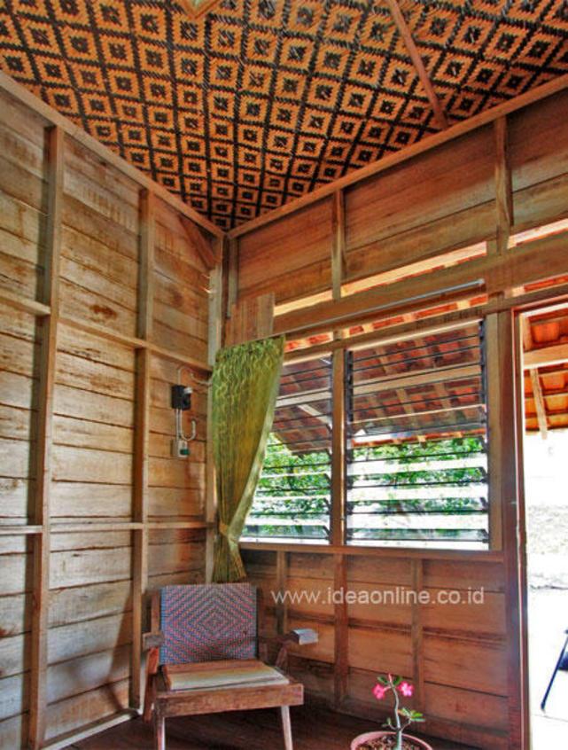Bentuk Plafon Rumah Dari Anyaman Bambu Baru