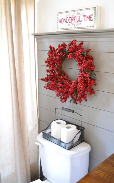 you can choose one of them to do with your kids every day there are also many christmas bathroom accessories such as bottle of liquid soap stand for the - Christmas Bathroom Decorations