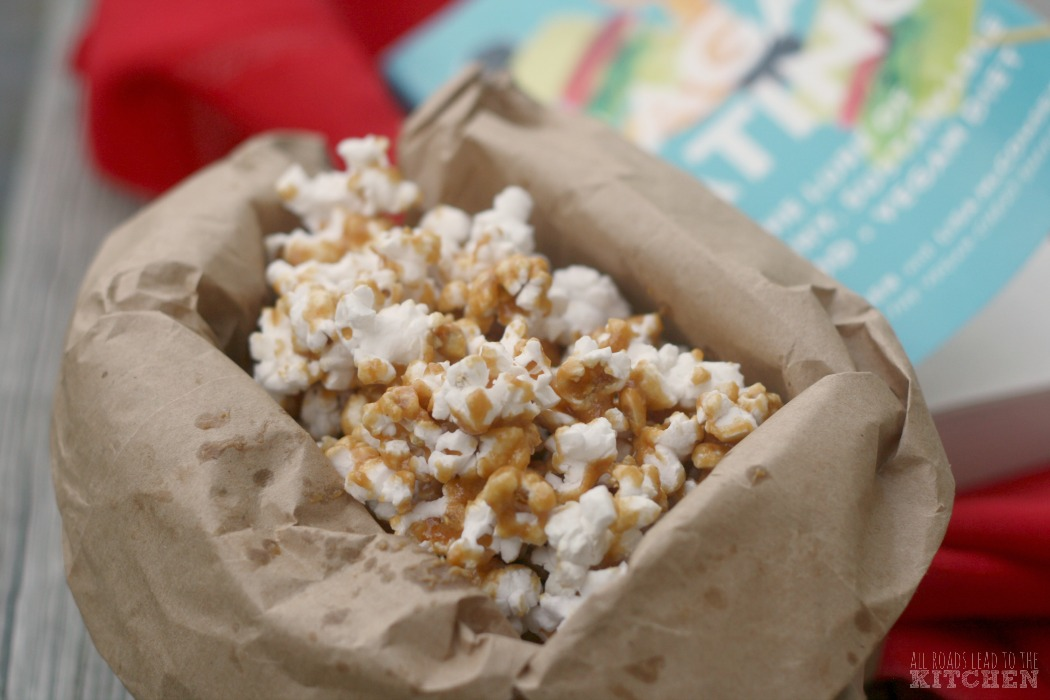 Seagan Eating Resource and Cookbook Review + Maple Almond Butter Caramel Corn Recipe