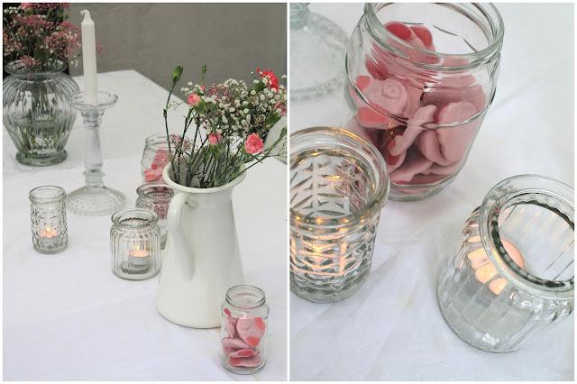 Deko Ideen Taufe Maedchen Tischdeko Kommunion rosa Jules kleines Freudenhaus