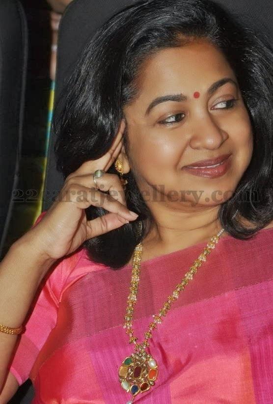 Radhika Pearls And Navaratan Stone Set Jewellery Designs