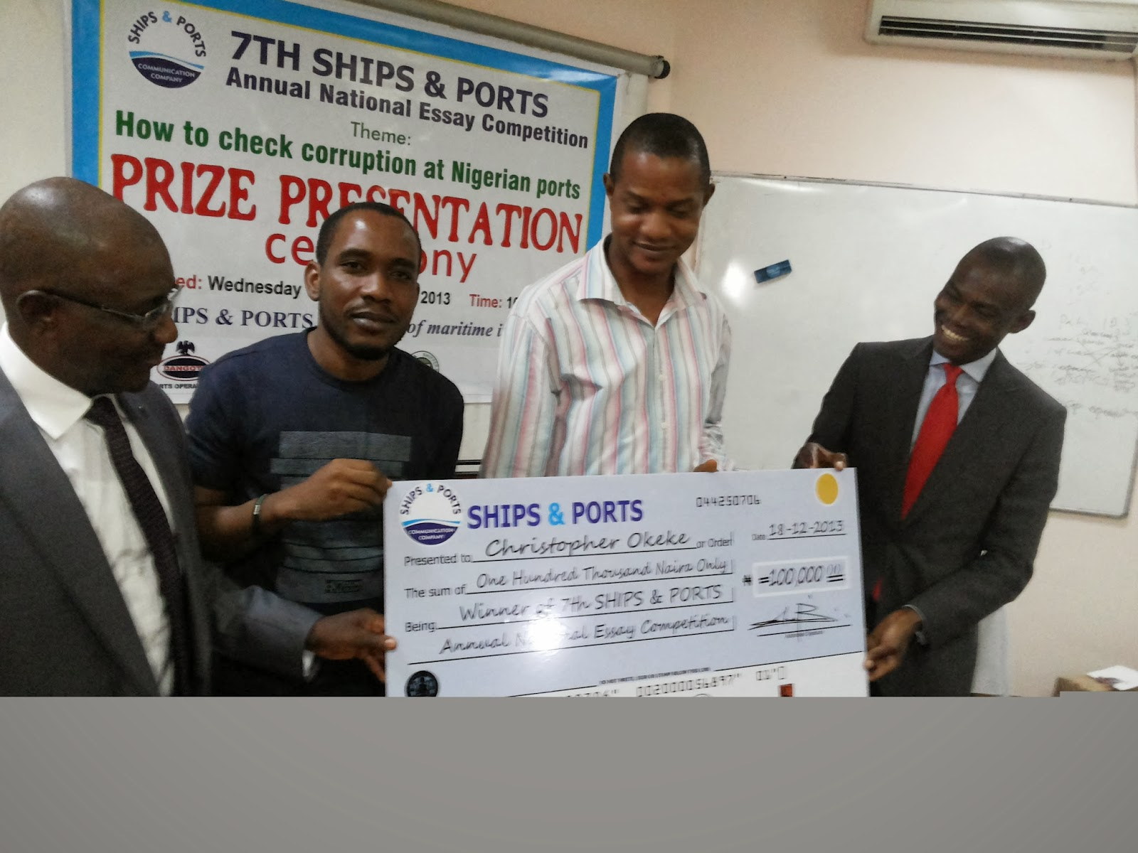 winners of 2013 ships ports essay competition emerge