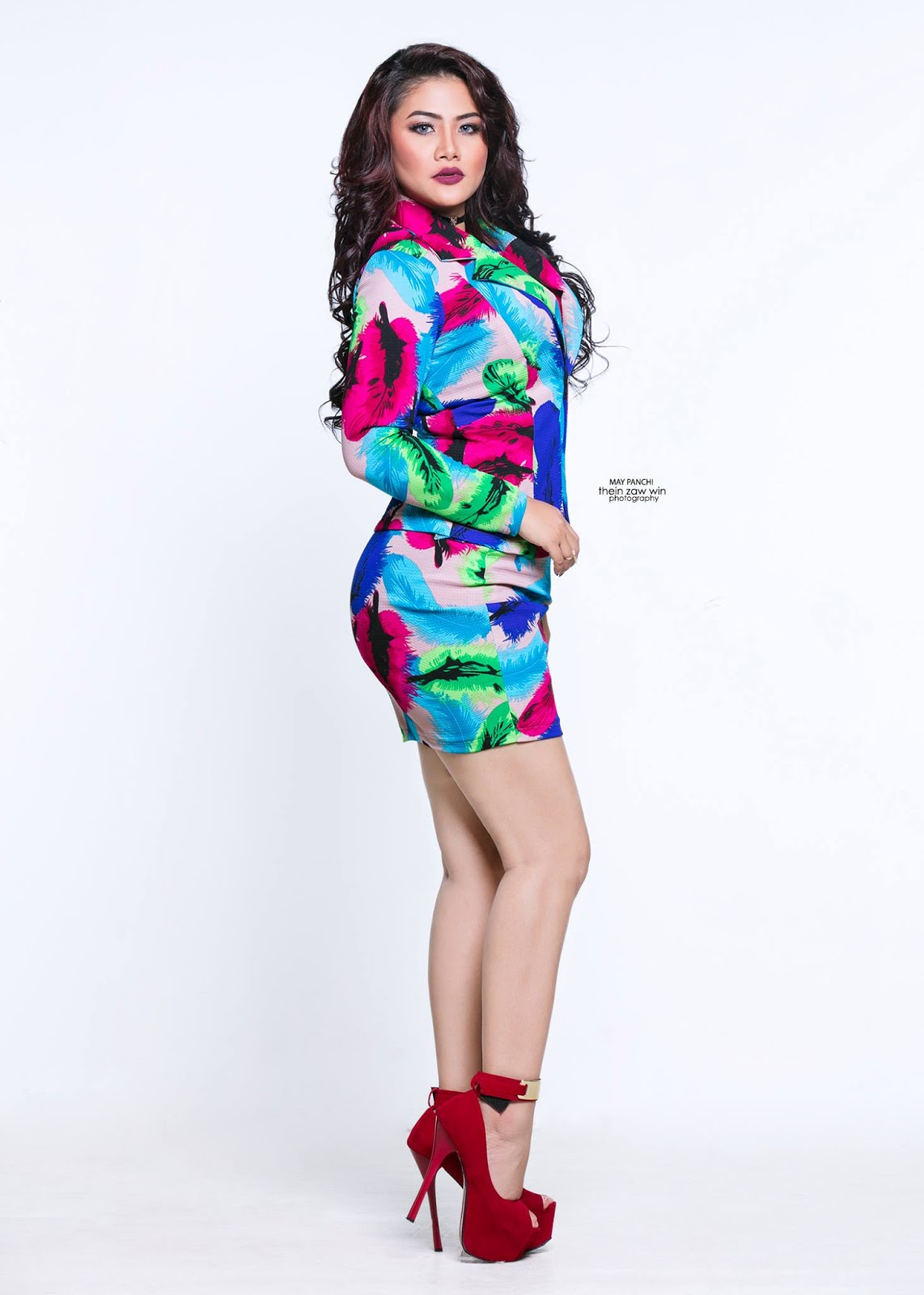 May Pachi Colorful Studio Fashion Photoshoot