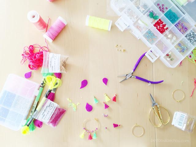 Summer Mini tassel earrings jewellery beautiful mess
