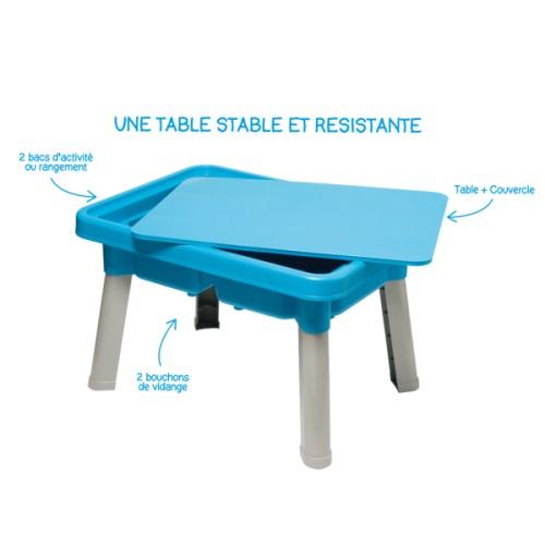 Sous le feuillage l 39 objet de la semaine 9 la table for Table d activite pour bebe